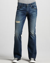 7 For All Mankind Brett A-Pocket Ocean Mist Jeans