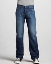 7 For All Mankind Austyn Relaxed Cotton-Linen Jeans