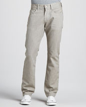 7 For All Mankind The Straight Twill Pants, Coconut