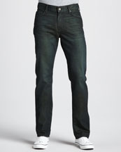 7 For All Mankind Slimmy Leaf Tinted Indigo Jeans