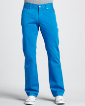 7 For All Mankind Slimmy Twill Pants, Aster Blue