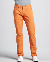 7 For All Mankind The Straight Twill Pants, Citrus