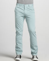 7 For All Mankind Slimmy Twill Pants, Mint