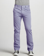 7 For All Mankind Slimmy Twill Pants, Iris