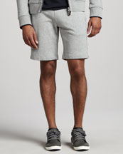 Moncler Flag-Trim Sweatshorts