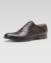 Gucci Leather Brogue Lace-Up Shoe