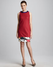 Elie Tahari Three-Tone Dress
