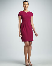 Elie Tahari Alexis Front-Zip Dress
