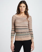 M Missoni Metallic Wave Sweater