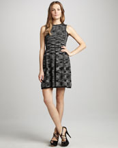 M Missoni Space-Dye Knit Pleated Dress