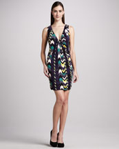 M Missoni Zigzag-Print Jersey Dress