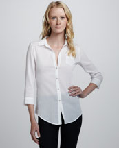 Elizabeth and James Cohen Textured Sheer Blouse