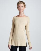 Elizabeth and James Boat-Neck Knit Sweater