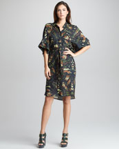 McQ Alexander McQueen Dragonfly Wing-Print Dress
