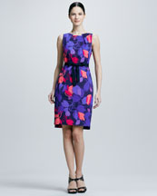 Elie Tahari Callie Floral-Print Dress