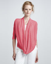 Alice + Olivia Drape-Front Sweater