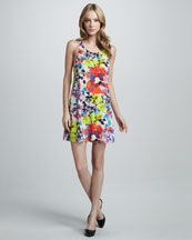 Alice + Olivia Haylen Floral-Print Dress