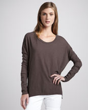 Vince Long-Sleeve Slub Tee, Seal