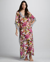 Tory Burch Catarina Floral-Print Caftan Cover-Up