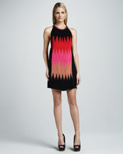 M Missoni Horizon Flame Striped Dress