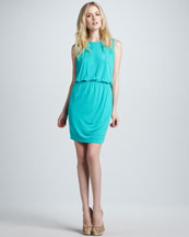 M Missoni Sleeveless Draped Jersey Dress