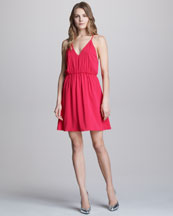 Alice + Olivia Arlen Open-Back Dress