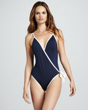 MARC by Marc Jacobs Woodward Wrap One-Piece