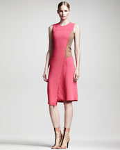 Reed Krakoff Asymmetric Colorblock Dress