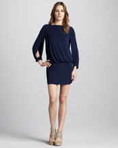 Milly Carmela Jersey Blouson Dress