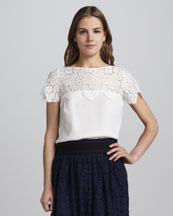Milly Mila Lace-Panel Top