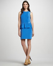 Tibi Sleeveless Peplum Dress