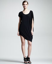 HELMUT Helmut Lang Kinetic Asymmetric Jersey Dress