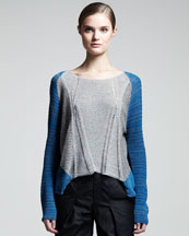 Helmut Lang Mixed-Kit Colorblock Top
