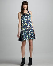 TEXTILE Elizabeth and James Roni Light-Print Dress