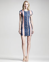 10 Crosby Derek Lam Lizard-Print Jersey Dress