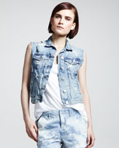 rag & bone/JEAN Tattered Denim Vest