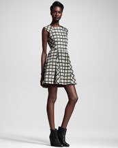 Rag & Bone Lorie Windowpane-Check Dress