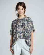 Theyskens' Theory Bonit Silk Tee