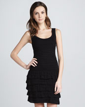 Cut25 Knit Ruffled Tiered Dress