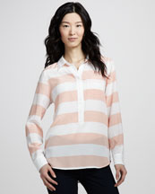 Equipment Rugby Stripe Silk Top