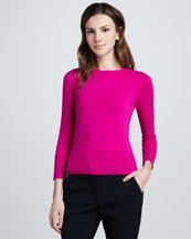 Diane von Furstenberg Noa Two-Color Sweater