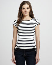 Theory Nyos Striped Top