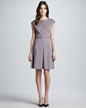 Theory Luxe Stretch-Twill Dress