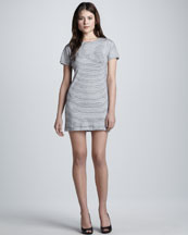 Theory Gessi Striped Knit Dress