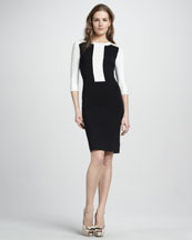 Theory Faviana Colorblock Fitted Dress