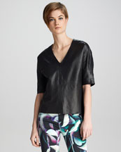 J Brand Ready to Wear Jane Leather Top