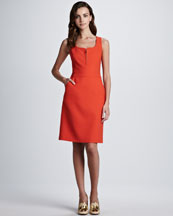 Tory Burch Zachary Sleeveless Pocket Dress