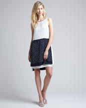 Diane von Furstenberg Abrielle Beaded Colorblock Dress