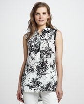 Rachel Zoe Geri II Printed Sleeveless Shirt