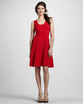 Autumn Cashmere Mixed-Stitch Sleeveless Dress